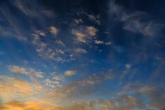 Wonderful sky. Wonderful summer skycape in Montenegro stock photo