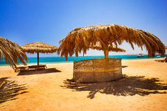 Wonderful solar beach in the Egypt. Royalty Free Stock Image