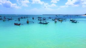 Wonderful stay on a beautiful beach Bali Stock Images