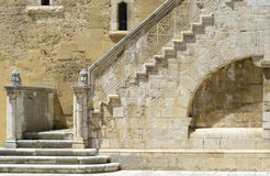 Wonderful stone staircase in the courtyard of the Swabian castle Stock Photo