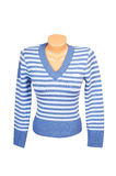 Wonderful striped sweater on a white. Stock Image
