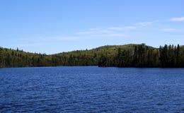 Wonderful summer day: Beautiful lake in Ontario.  stock photo
