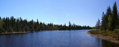 Wonderful summer day: Beautiful lake in Ontario.  royalty free stock image