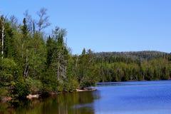 Wonderful summer day: Beautiful lake in Ontario.  stock images