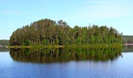 Wonderful summer day: Beautiful lake in Ontario.  stock photography