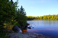 Wonderful summer day: Beautiful lake in Ontario.  stock image