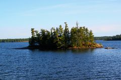 Wonderful summer day in Ontario. Wonderful summer day: Beautiful lake in Ontario royalty free stock photography