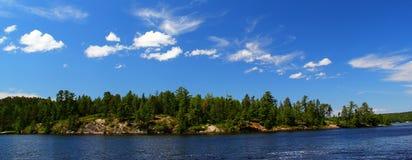 Wonderful summer day in Ontario: Nestor Falls. Wonderful summer day: Beautiful lake in Ontario stock photos