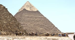 Traveling to Cairo Giza Egypt to see the Pyramids. Wonderful summer travel destinations to Egypt the Pyramids of Giza Stock Photos