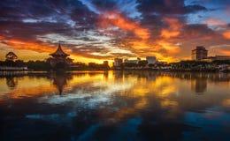 wonderful sunrise colour stock images
