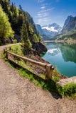Wonderful sunrise at Gosausee lake in Gosau, Alps Stock Photography