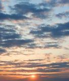 Wonderful sunset stock images