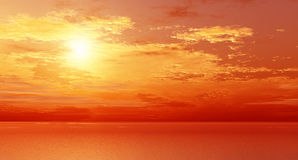 Wonderful sunset Royalty Free Stock Photo