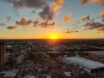 Wonderful sunset in the city of Recife royalty free stock images