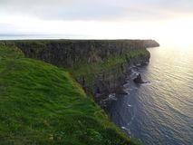 Wonderful sunset at the Cliffs of Moher in Ireland Royalty Free Stock Image