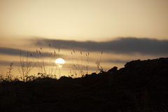 Wonderful Sunset on ETNA Volcano Royalty Free Stock Photos