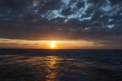Wonderful sunset on the high seas, wonderful nature. Brazil South America stock photo