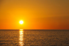 Wonderful sunset. Over the sea in bright colors Royalty Free Stock Images