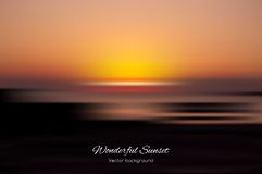 Wonderful sunset vector background Royalty Free Stock Images