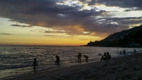 Wonderful sunsets in the Leblon neighborhood, Rio de Janeiro Brazil. South America stock photography