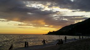 Wonderful sunsets in the Leblon neighborhood, Rio de Janeiro Brazil. South America stock photos