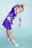 Wonderful sweet girl seven years dancing Royalty Free Stock Images