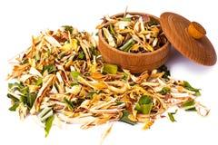 Wonderful Thai herbal tea with Pandan and Lemongrass. Studio Photo Royalty Free Stock Photography