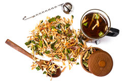 Wonderful Thai herbal tea with Pandan and Lemongrass. Studio Photo Royalty Free Stock Images