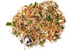 Wonderful Thai herbal tea with Pandan and Lemongrass. Studio Photo Stock Photo