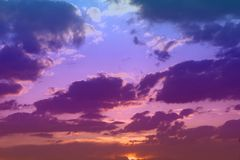Free Wonderful Toned Sun Colored Clouds On The Sky For Using In Design As Background Royalty Free Stock Photos - 141666498