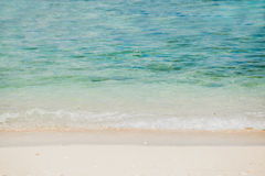 Wonderful tropical beach with blue sky Stock Photography