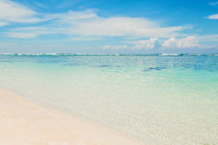 Wonderful tropical beach with blue sky Stock Images