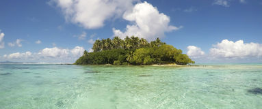 Wonderful tropical islet in French Polynesia stock photography