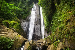 Wonderful Tropical Waterfall. Tropical waterfall in Bali, Indonesia Stock Photography