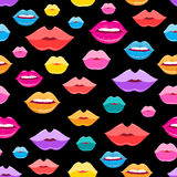 Wonderful vector pattern of lips Royalty Free Stock Photography