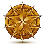 Wonderful vector template with golden star symbol Stock Photography