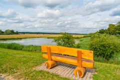 Wonderful view with this bank in the open nature stock photography