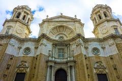 Wonderful view of the cathedral de Santa Cruz in Cadiz, Spain in Andalusia, next to the sea Campo del Sur stock photo