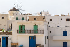 Wonderful view of City buildings in Ios Island, Greece Stock Photo