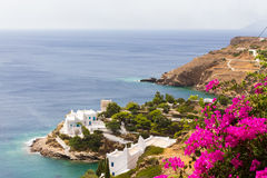 Wonderful view of City buildings in Ios Island, Greece Royalty Free Stock Photo