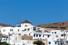 Wonderful view of City buildings in Ios Island, Greece Stock Images