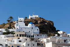 Wonderful view of City buildings in Ios Island, Greece Royalty Free Stock Photography
