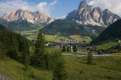 Wonderful view of Corvara in Badia in Alto Adige. Wonderful view of Corvara in Badia in Val Badia, Alto Adige, Italy stock photos