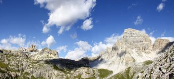 Wonderful view of the Dolomites - Trentino Alto Adige on the Nat. Ional Park Sexten Dolomites Italy stock images