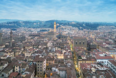 Wonderful view of Florence at sunset times. Aerial view from Cam. Panile Stock Photography
