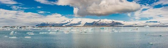 Wonderful view of Glacier Lagoon, Jokulsarlon, on South Iceland royalty free stock photo