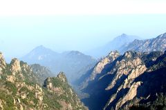 Wonderful view at the Huangshan Yellow Mountains, China Royalty Free Stock Images