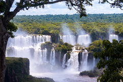 Wonderful view of Iguassu Falls, waterfall in Brazil Stock Photos