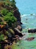 In the Mediterranean Sea port. A wonderful view of the Mediterranean port Stock Photos