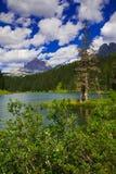 Wonderful view of Misurina lake in the summer season, Italian dolomites royalty free stock photos